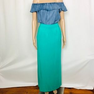 Design Story | Maxi Skirt | Turquoise